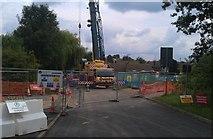SK5501 : Construction work along Watergate Lane by Mat Fascione