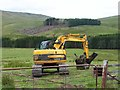 NO1664 : Bulldozer near Balloch by Oliver Dixon