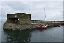 NU2520 : Harbour wall by DS Pugh