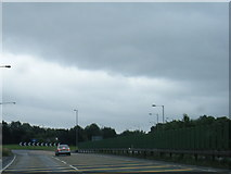 SK1631 : A50 eastbound at Dovebank roundabout by Colin Pyle