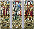 TM2749 : St Mary's Church, Jubilee Window Detail by David Dixon