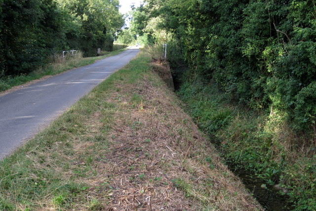 Ditch on Duck End Lane