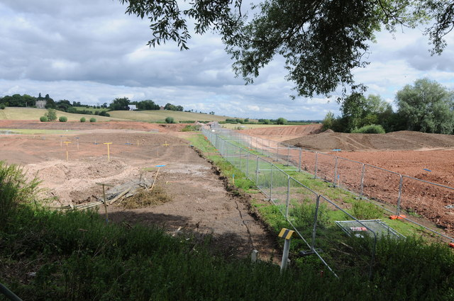 Removal of former railway embankment at Tewkesbury