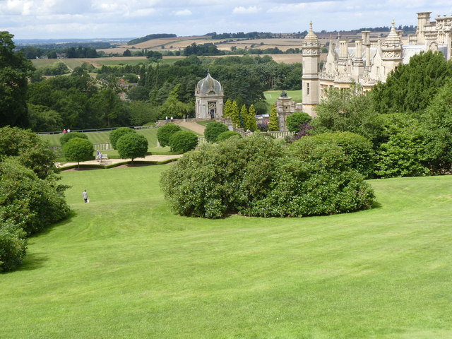 View from the upper garden levels