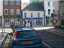 J4844 : Traffic on Market Street waiting to enter Irish Street by Eric Jones