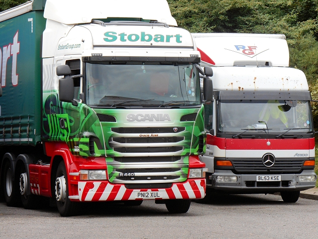 Stobart Lorry at Cambridge Services