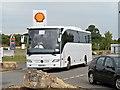TL3565 : Coach Entering Cambridge Service Area by David Dixon