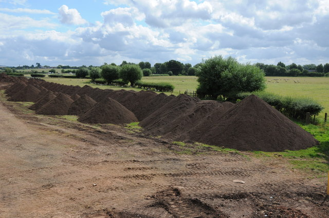 Topsoil near The Mythe