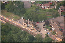 SK8975 : Saxilby Railway Station: aerial 2013 by Chris