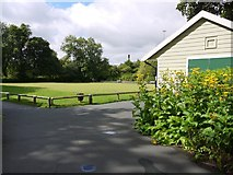 NZ2465 : Bowling Green, Brandling Park by Andrew Curtis