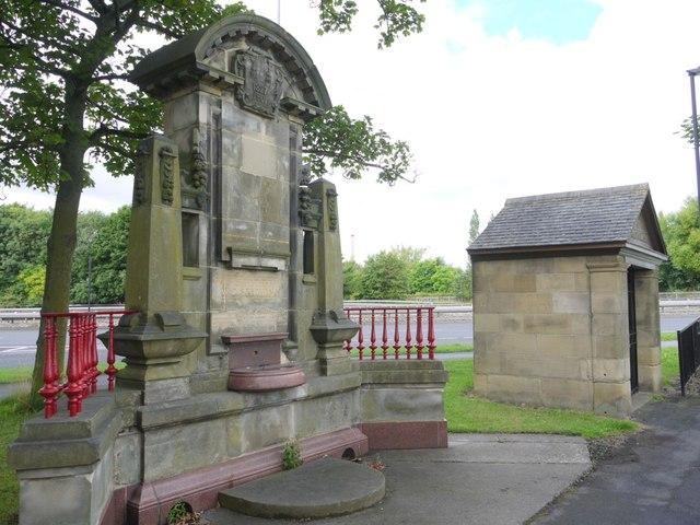 Ornamental drinking fountain & shelter, Clayton Road