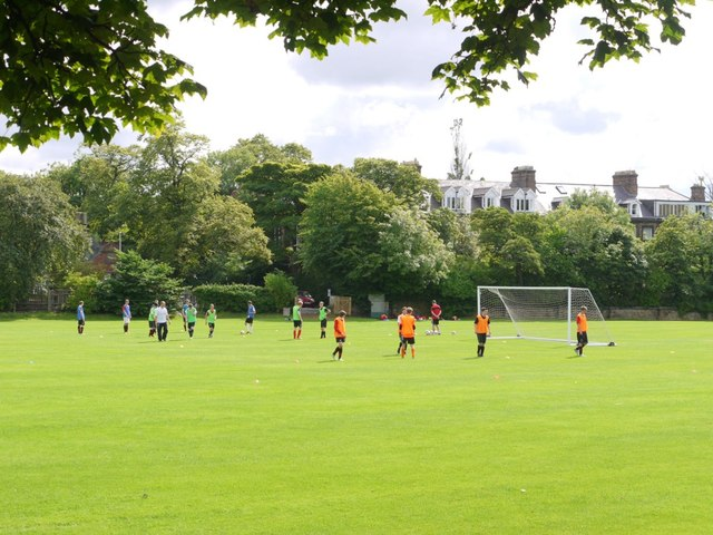 Playing fields east of Great North Road