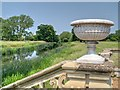 SP2556 : River Avon Seen from the River Terrace at Charlecote House by David Dixon