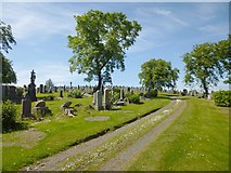 NS2676 : Greenock Cemetery by Lairich Rig