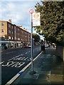 TQ2978 : Bus Stop 'M' in Lupus Street Pimlico by PAUL FARMER