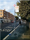 TQ2978 : Bus Stop 'M' in Lupus Street Pimlico by PAUL FARMER