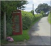 SO6462 : Telephone box, Stoke Bliss by Richard Webb