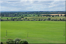 SO8832 : View across Severn Ham from the tower of Tewkesbury Abbey by Philip Halling