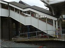 TQ2182 : Covered stairwell, Willesden Junction Railway Station by Robin Sones