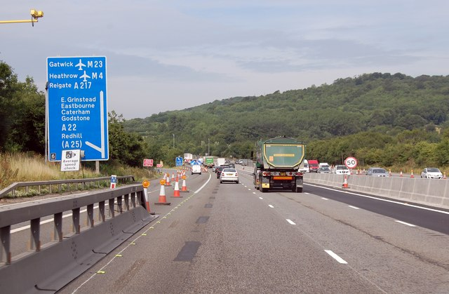 M25 approaching junction 6