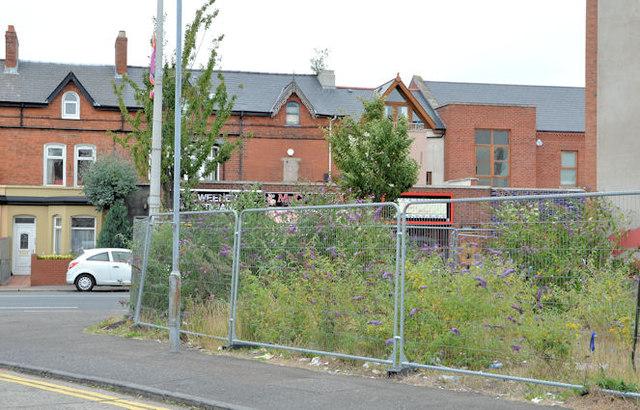 Vacant site, Beersbridge Road, Belfast (August 2013)