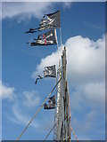 NT6779 : Coastal East Lothian : Flying The Flags at Winterfield Park by Richard West