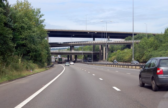 M25 Junction 7 flyovers