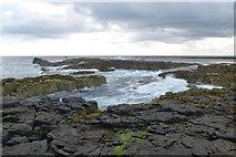NU2438 : Coast of Longstone Island by DS Pugh