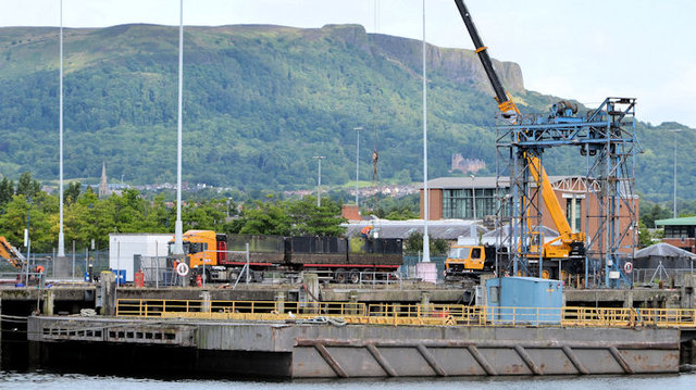 Scrap removal, Donegall Quay, Belfast (2013-2)