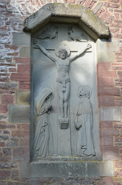 Crucifixion of Christ Carving, St Edward's church