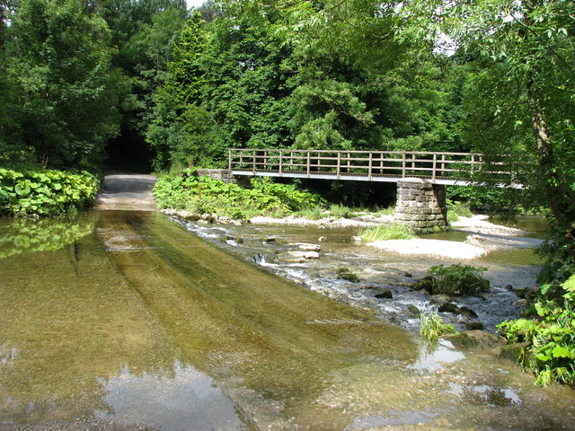 Ford and Footbridge over the River Lyvennet