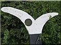 SK8634 : Sustrans Millennium Milepost at Denton (detail) by Alan Murray-Rust