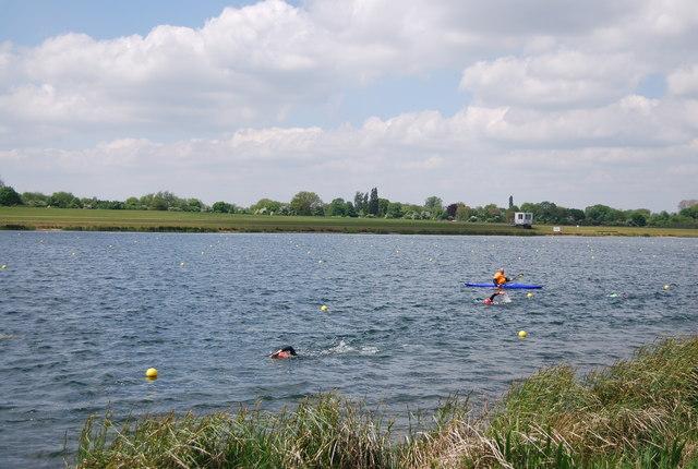 Swimming in Dorney Lake