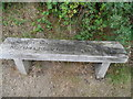 TM3898 : Engraved bench outside the church yard of St Gregory's by Bikeboy