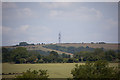 SU7120 : Radio mast on Butser Hill by Peter Facey