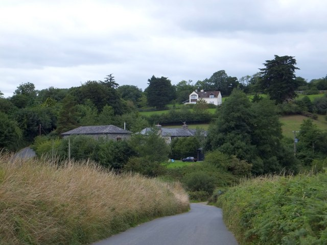 Farms to the north of Bere Ferrers