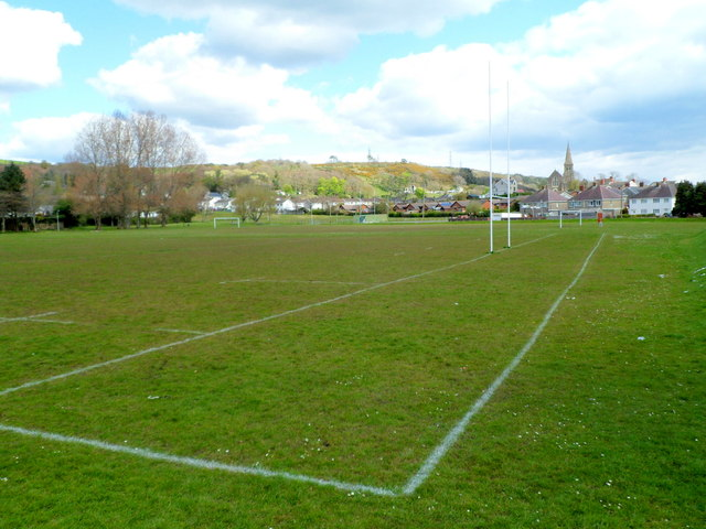 Sports pitches in Burry Port Memorial Park