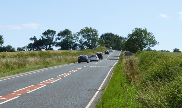 The A697 heads south