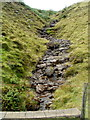 SN9721 : A trickle of water in a mountain stream in the Brecon Beacons by Jaggery