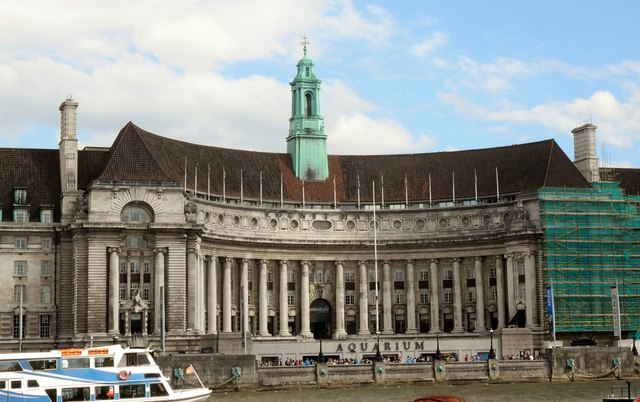 County Hall and London Aquarium