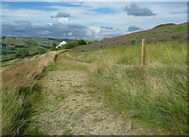 SE0511 : Path junction on the Colne Valley Circular Walk by Humphrey Bolton