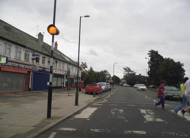 Zebra crossing on Nelson Road, Whitton