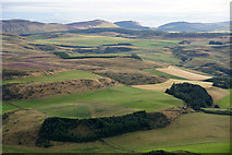 NO2127 : Woodland above Fingask from the air by Mike Pennington