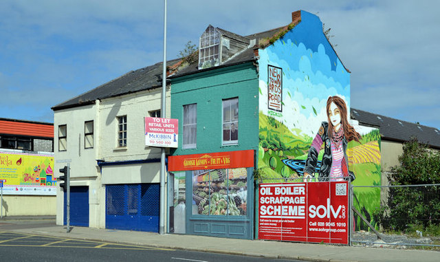 Vacant shops near the Holywood Arches, Belfast (2013)