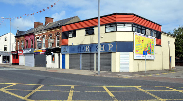 Shops near the Holywood Arches, Belfast (2013)