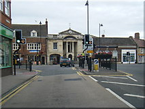 TF0920 : West Street looking towards Bourne Town Hall by Colin Pyle