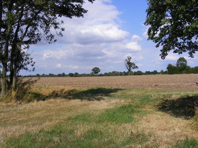 Field entrance off Laxfield Road