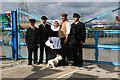 ST3186 : Newport Transporter Bridge - crew by Chris Allen