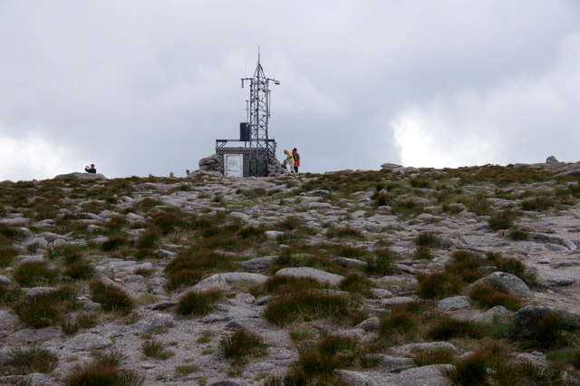 Weather station at the summit of Cairn Gorm