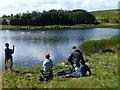 SO1811 : Fishing at Machine Pond, Brynmawr by Robin Drayton
